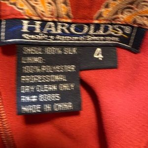 Harold's Skirts - Red and gold skirt